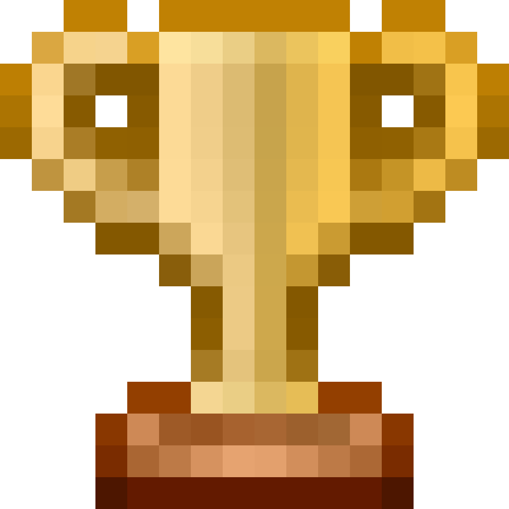 Speedrun.com first place trophy